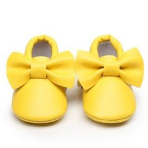 Other - New yellow bow soft sole baby moccasins